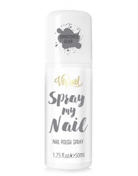 Vernis en spray argenté