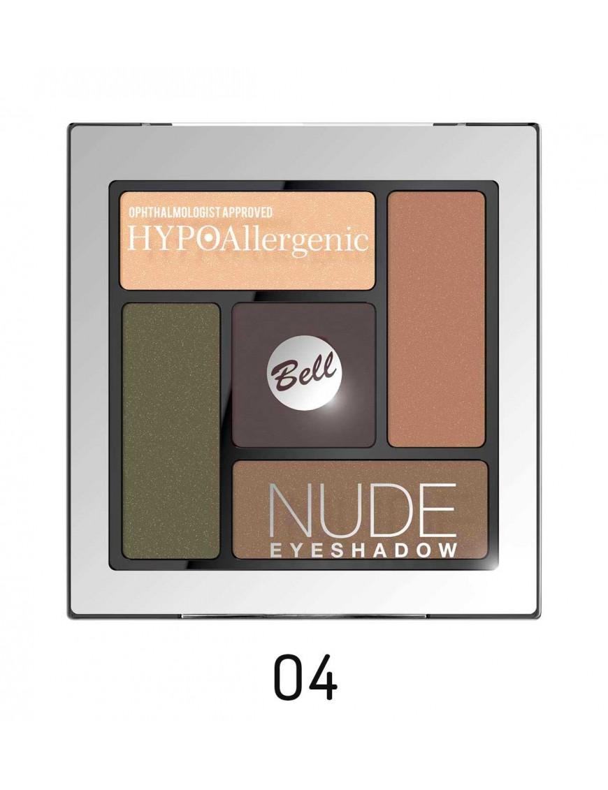 Palette fards nude hypoallergéniques tons bruns