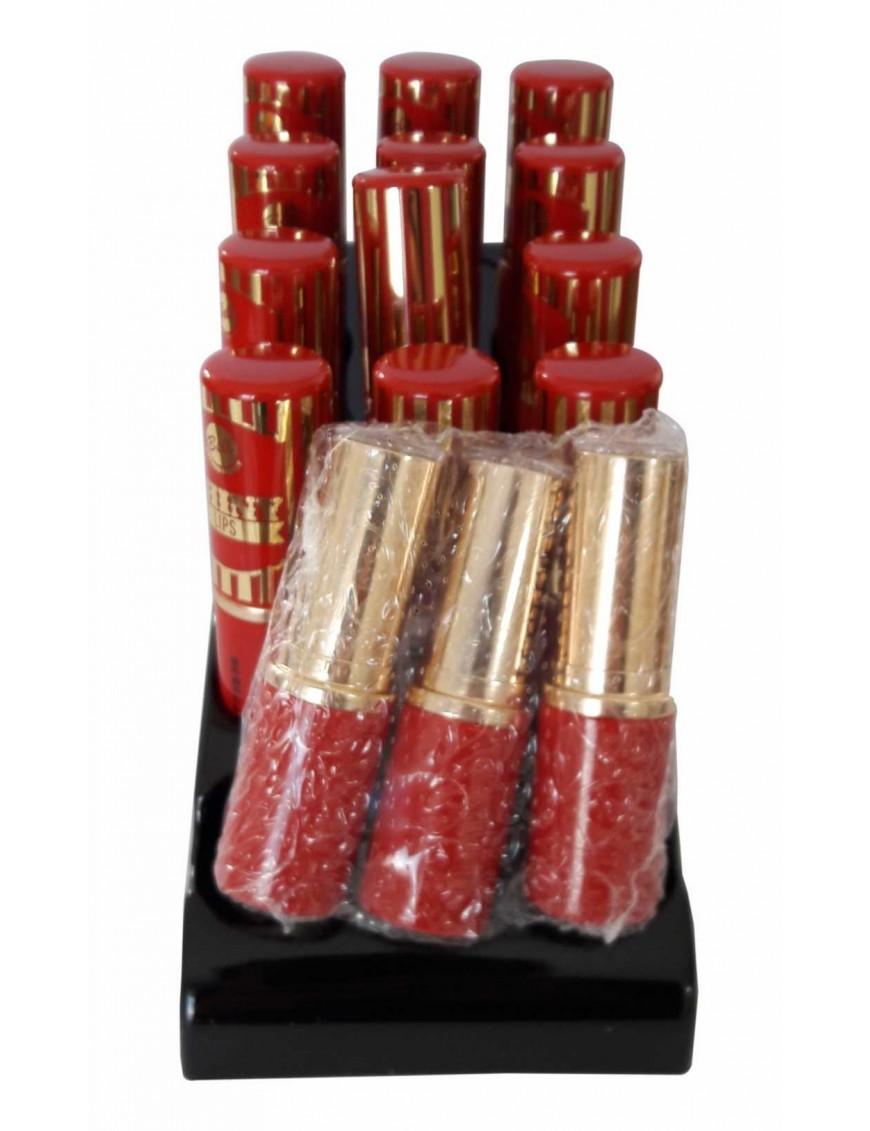 Présentoir rouge à lèvres pailleté