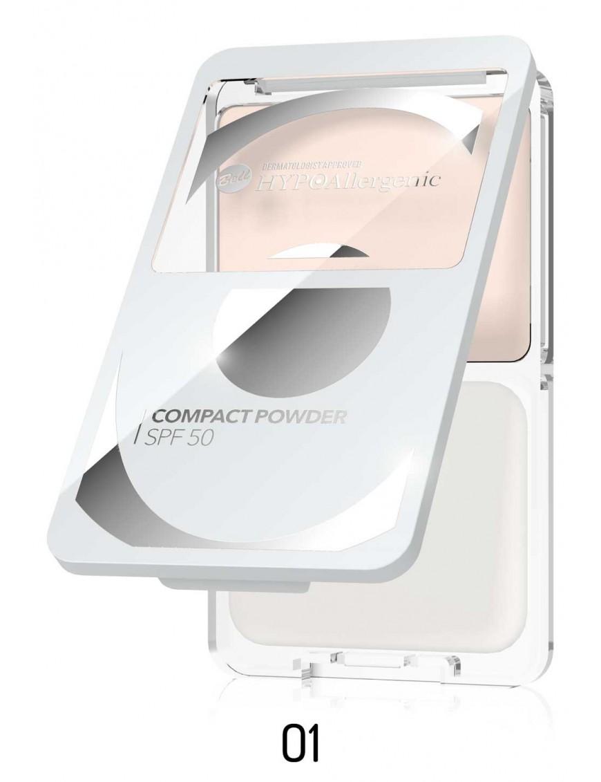 Poudre compacte hypoallergénique SPF50 01 Albâtre