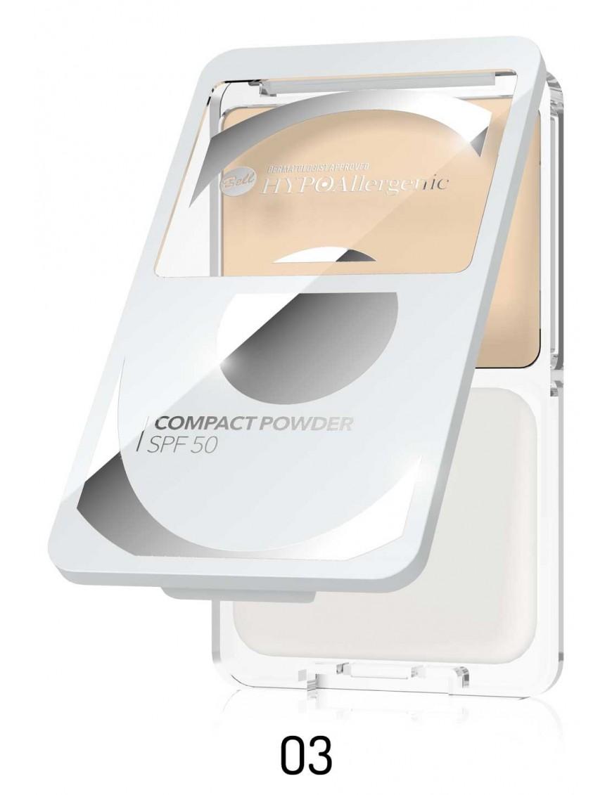 Poudre compacte hypoallergénique SPF50 03 Beige