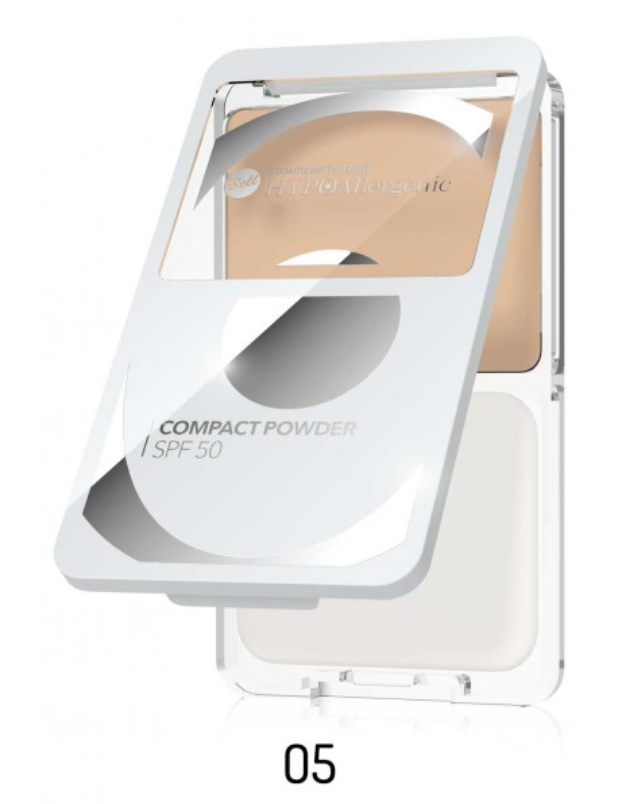Poudre compacte hypoallergénique SPF50 05 Caramel
