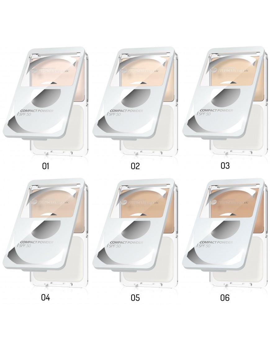 Poudre compacte peau sensible avec filtre SPF50