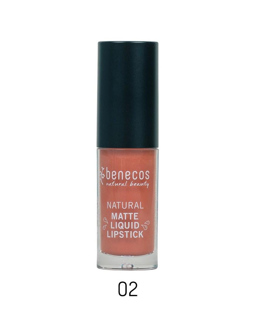 Rouge à lèvres liquide naturel corail