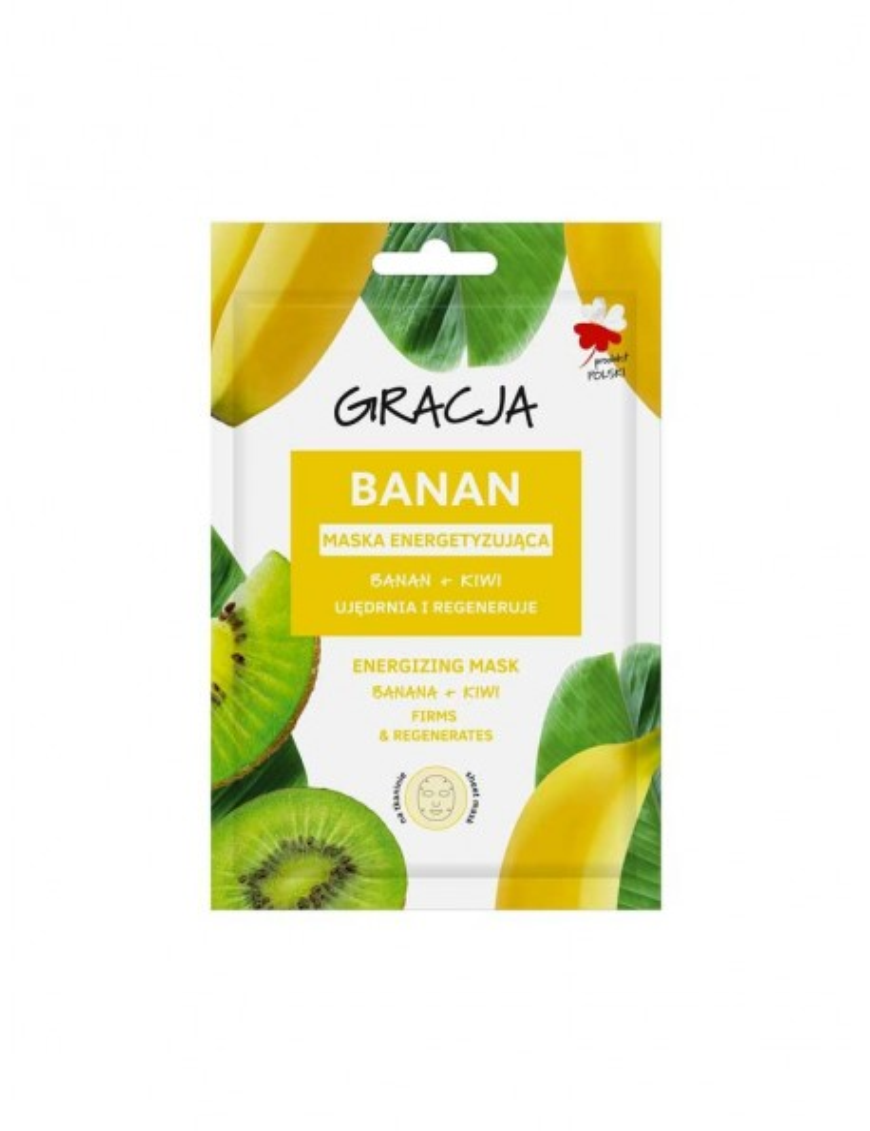 Sheet mask pour le visage Gracja banane kiwi
